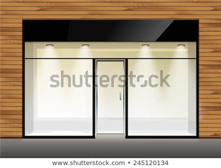 Vacío tienda plataforma plantilla sombra Foto stock © romvo