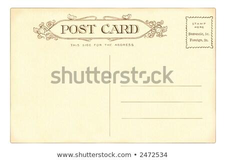 vintage postcard of 1903 stock photo © hofmeester