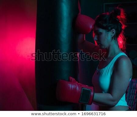 исчерпанный женщины Боксер фитнес Сток-фото © wavebreak_media