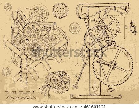 детали · старые · жирный · механизм · пар · двигатель - Сток-фото © klinker