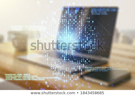 Spam analyse laptop moderne werkplek Stockfoto © tashatuvango