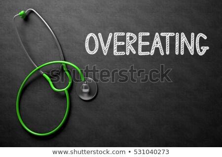 ожирение доске 3d иллюстрации медицинской черный Сток-фото © tashatuvango