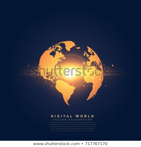 creative golden earth with center light effect Stock photo © SArts