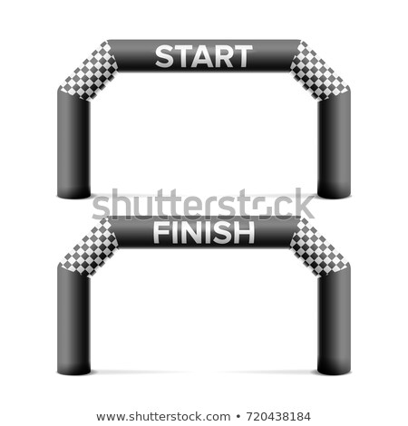 3d start finish line arch vector outdoor sport events competition concept isolated illustration stock photo © pikepicture