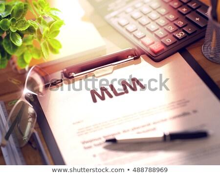 Mlm tekst 3D papier vel Stockfoto © tashatuvango
