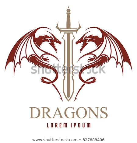 Sword - Dragon Stock photo © patsm