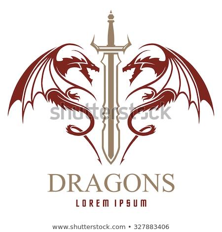 Sword - Dragon stock photo © patsm