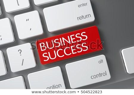 Red Success Keypad on Keyboard. 3D. Stock photo © tashatuvango