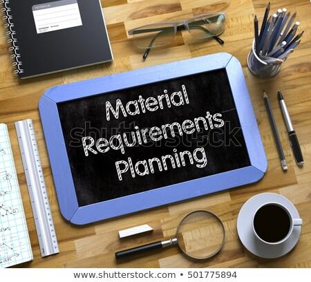 Material planificación pequeño pizarra 3d texto Foto stock © tashatuvango