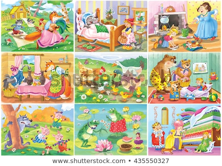 Fairy tale princess on pea Stock photo © orensila