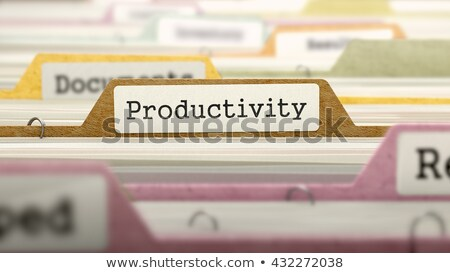 Sort Index Card with Productivity. 3D. Stock photo © tashatuvango