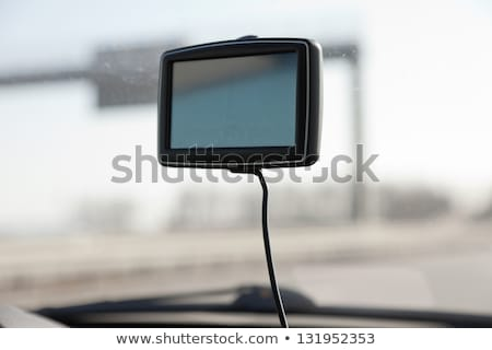 GPS car navigation with blank screen as copy space Stock photo © stevanovicigor