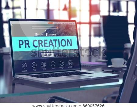 Pr schepping laptop scherm landing Stockfoto © tashatuvango