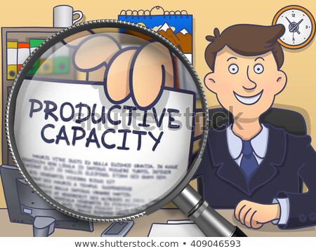 Productive Capacity through Magnifier. Doodle Style. Stock photo © tashatuvango