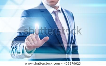 hand touching clients button stock photo © tashatuvango