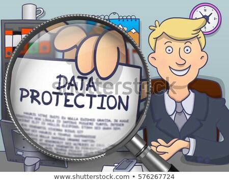 data control through magnifier doodle style stock photo © tashatuvango