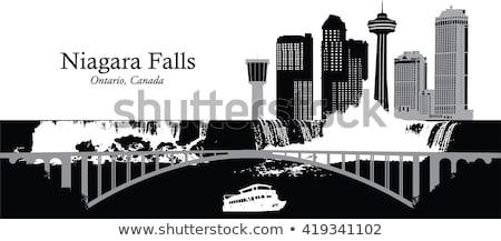 Niagara Falls skyline silhouet stad ontario Canada Stockfoto © blamb
