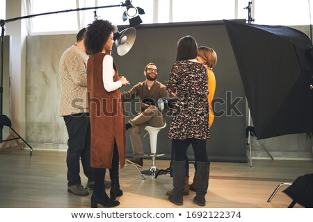 woman teach something to a trainee Stock photo © IS2