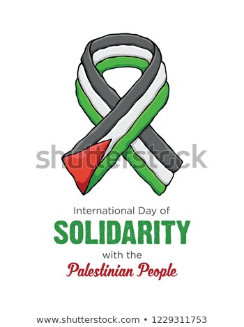 icon  flag Solidarity with the Palestinian People Stock photo © Olena