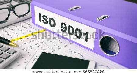 Blue Ring Binder with Inscription Sales. Stock photo © tashatuvango