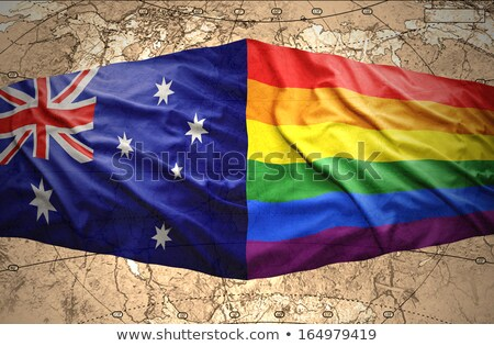 australian and rainbow flags Stock photo © nito