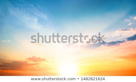 午前 日の出 色 豊富な ブルース 空 ストックフォト © lovleah