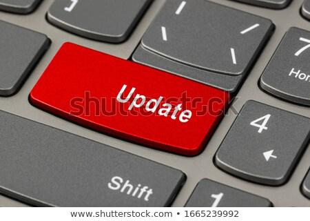 güncelleştirme · kırmızı · klavye · düğme · siyah - stok fotoğraf © tashatuvango