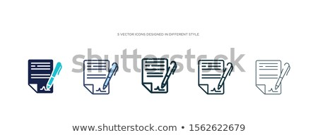 Stock photo: Digital color vector detailed line art different