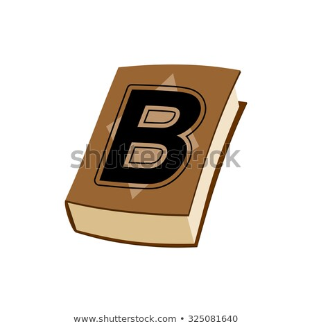 Letter B at Vintage books in hardcover. Alphabetical stashes on Stock photo © popaukropa