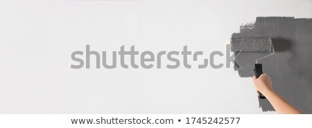 cartoon · vrouw · schilder · karakter · klusjesman - stockfoto © krisdog