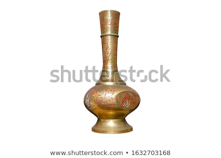 Velho cobre vaso manusear isolado branco Foto stock © 5xinc