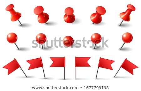 red thumbtack stock photo © mblach