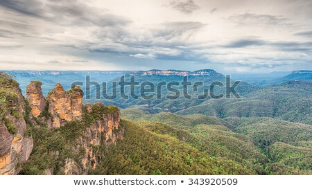 Storm over Katoomba, Blue Mountains Stock photo © lovleah