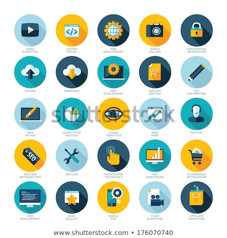 Téléchargement icône icône de téléchargement vecteur isolé blanche Photo stock © smoki