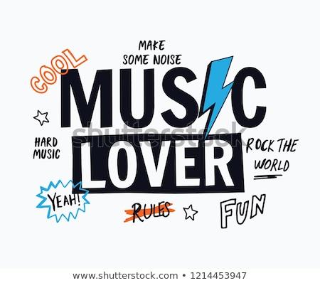 Muziek kid cute cartoon Stockfoto © zsooofija