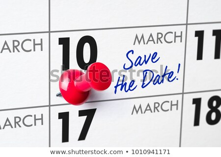 Wall calendar with a red pin - March 10 Stock photo © Zerbor