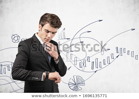 time to growth drawn on white wall stock photo © tashatuvango