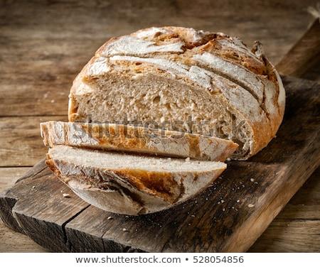 Caseiro pão pão raso Foto stock © milsiart