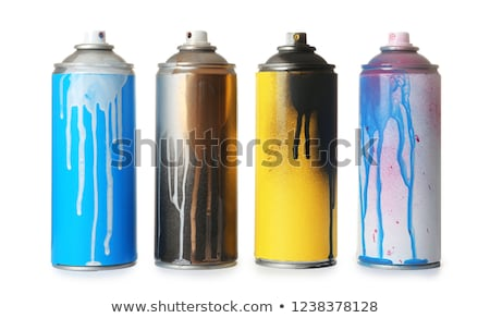 Blue aerosol spray can Stock photo © magraphics