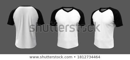 tshirt · atış · adam · siyah · moda · tek · başına - stok fotoğraf © sarts