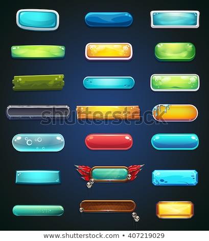 Stok fotoğraf: Turuncu · seçenekleri · pencereler · ayarlamak · karikatür · stil