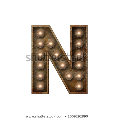 Letter N 3D Broadway Style Stock photo © creisinger
