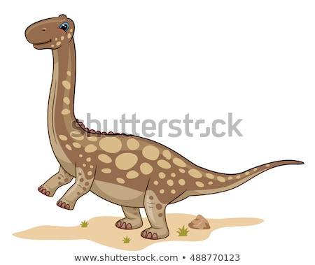dinosauro · potenziale · energia · illustrazione · scuola · scienza - foto d'archivio © lenm