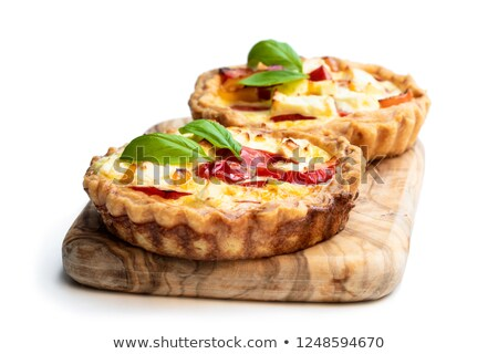 Sweet goat cheese tart on cutting board Stock photo © IS2