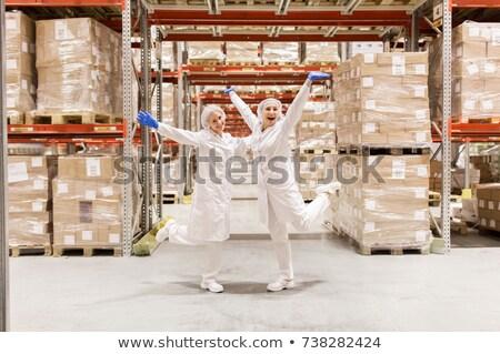 nők · dolgozik · fagylalt · gyár · ipar · étel - stock fotó © dolgachov