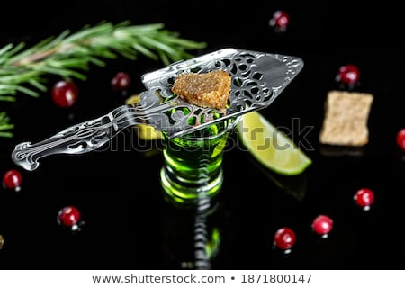 Stockfoto: Glas · traditioneel · lepel · foto · drinken