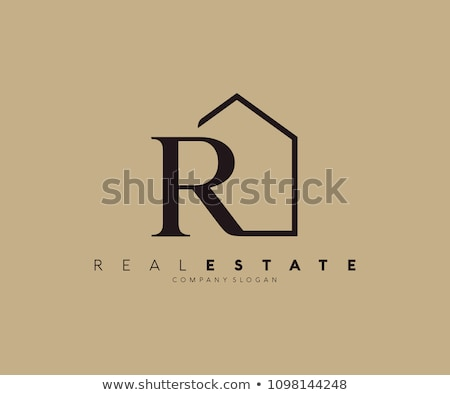 house logo with letter R sign. logo template Stock photo © taufik_al_amin