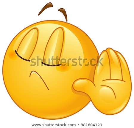 грусть желтый солнце Cartoon лице характер Сток-фото © hittoon