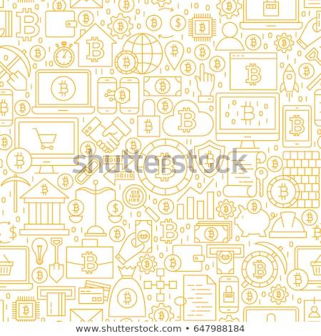 Bitcoin carte de débit icône modernes financière technologie Photo stock © WaD