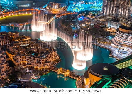 Burj Khalifa and Dubai Fountain in Dubai. Stock photo © kasto